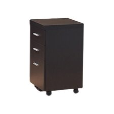 3-Drawer Hollow-Core Mobile File Cabinet