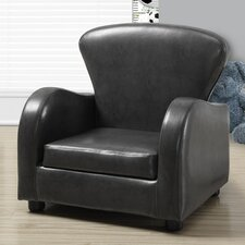 Leather-Look Juvenile Club Chair