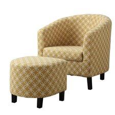 Circular Barrel Chair & Ottoman