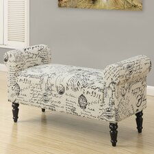 Vintage French Fabric Bench
