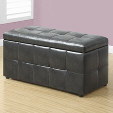 Faux Leather Storgae Ottoman
