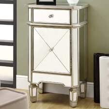 1 Drawer Mirrored Accent Cabinet