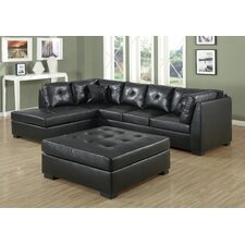 Leather Left Hand Facing Sectional