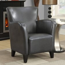 Leather-Look Club Chair