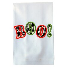 Egyptian Cotton Huck Holiday Applique Boo Hand Towel