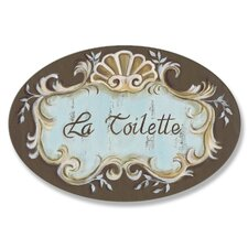 La Toilette Crest top Oval Bathroom Wall Plaque