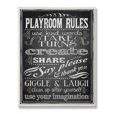 The Kids Room New Playroom Rules Wall Plaque