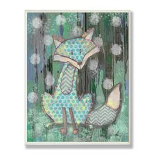 The Kids Room Distressed Woodland Fox Wall Plaque