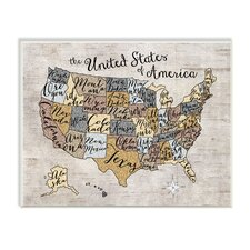 United States Map Wall Plaque
