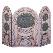 Topiary 3 Panel Fireplace Screen