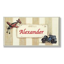 Kids Room Personalization Plane/Car Boys Name Wall Plaque