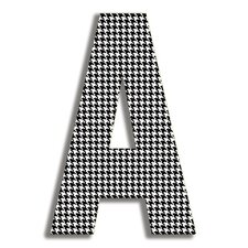 Oversized Houndstooth Letter Hanging Initial