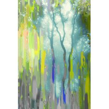 Painted Tree Forest Graphic Art on Wrapped Canvas