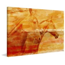 """""""Horsey"""" Framed Painting Print on Canvas"""