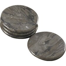 The Byzantine Piece Coaster in Charcoal (Set of 4)