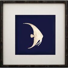 Gold Leaf Right Facing Fish II Framed Graphic Art