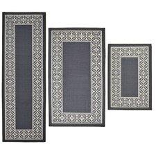 3 Piece Tripoli Grey Area Rug Set