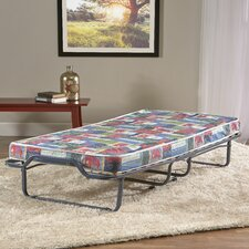 Firenze Twin Folding Bed with Metal Frame and Memory Foam Mattress