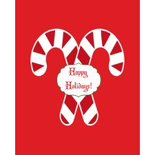 Candy Cane Holidays Art Print