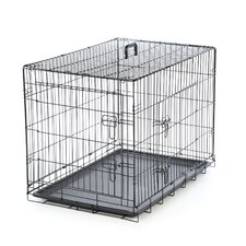 Foldable 2 Door Pet Crate