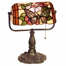 "Banker Butterfly 13"" H Table Lamp with Rectangular Shade"