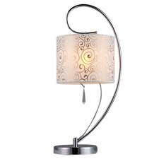 """Swirl Crystal 20"""" H Table Lamp with Drum Shade"""