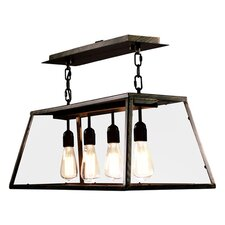 Edison 4 Light Kitchen Island Pendant in Gold
