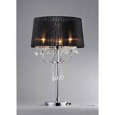 "Victoria 3 Light Crystal 28"" H Table Lamp with Empire Shade"