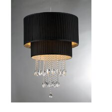 Double Cake 8 Light Crystal Drum Chandelier