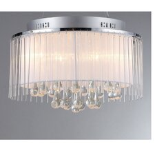 Ares 5 Light Crystal Drum Chandelier