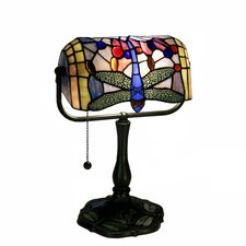 "Dragonfly Banker 12"" H Table Lamp with Rectangular Shade"