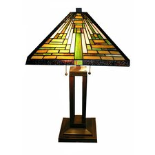 """Mission Hand-Cut 23"""" H Table Lamp with Empire Shade"""
