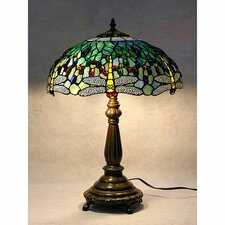 Dragonfly Table Lamp with Bowl Shade
