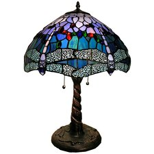 Dragonfly Handcrafted 16'' H Table Lamp with Bowl Shade