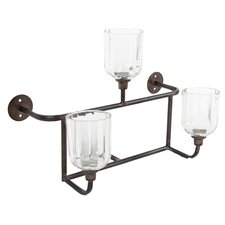 Metal and Glass Candelabra