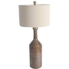 """31"""" H Buffet Table Lamp with Drum Shade"""