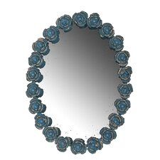 Rose Frame Oval Wall Mirror