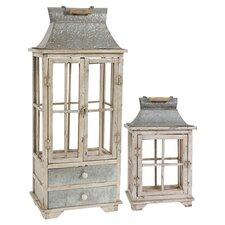 2-Piece Borghese Candle Lantern Set