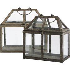 2 Piece Novelty Terrarium Planter Set