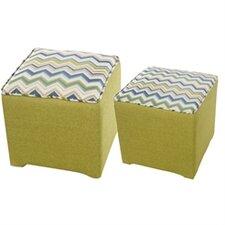 2 Piece Cube Ottoman