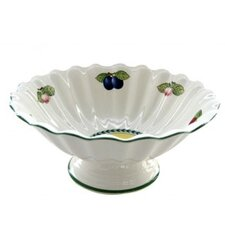 French Garden Fleur Footed Fruit Bowl