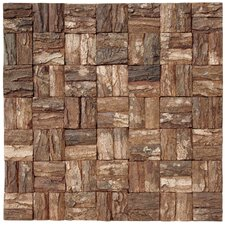 Wooden MosaicTile in Brown