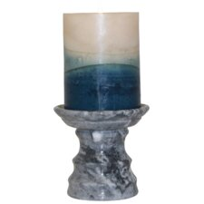 Cameo Marble Pedestal Candle Holder