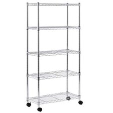 Mobile 4 Shelf Wire Shelving