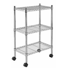 Mobile 2 Shelf Wire Shelving
