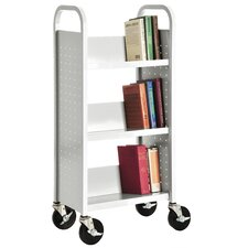 Sloped Shelf Book Cart