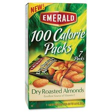 Emerald 100 Calorie Pack Dry Roasted Almonds, 7 Packs/Box (Set of 2)