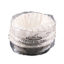 Coffee Pro Basket Filters 200 Filters/Pack (Set of 2)
