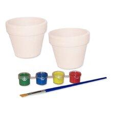 Paint Your Own Flower Pots (Set of 2)