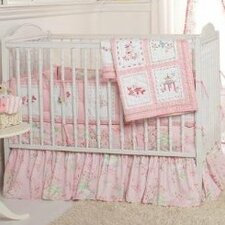 Pink Pagoda 3 Piece Crib Bedding Set
